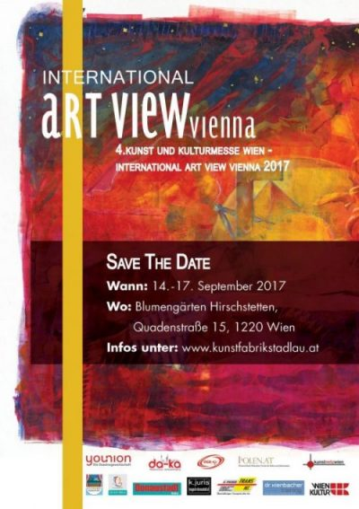 4. Internationale Kunst & Kulturmesse  Wien – International Art View Vienna vom  14.- 17. September 2017