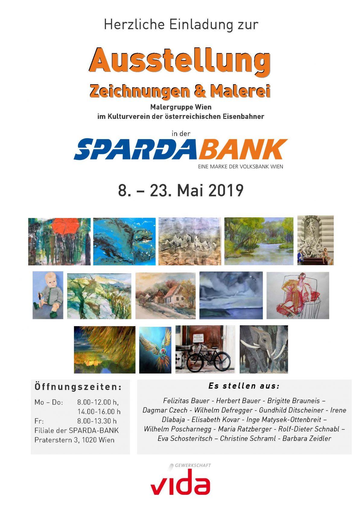Ausstellung der Malergruppe Wien                 Zeichnungen und Malereien